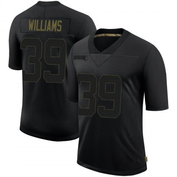 Youth Nike Pittsburgh Steelers Malik Williams Black 2020 Salute To Service Jersey - Limited