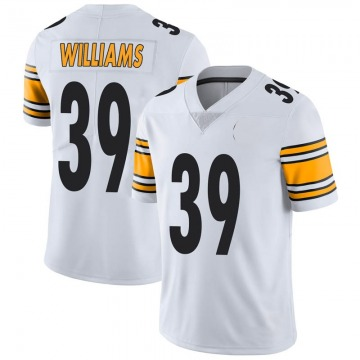 Youth Nike Pittsburgh Steelers Malik Williams White Vapor Untouchable Jersey - Limited