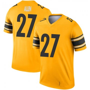 Youth Nike Pittsburgh Steelers Marcus Allen Gold Inverted Jersey - Legend