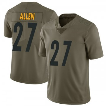 Youth Nike Pittsburgh Steelers Marcus Allen Green 2017 Salute to Service Jersey - Limited