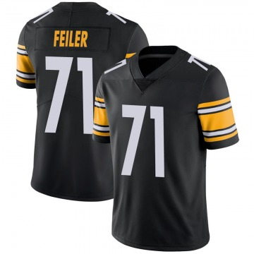 Youth Nike Pittsburgh Steelers Matt Feiler Black 100th Vapor Jersey - Limited