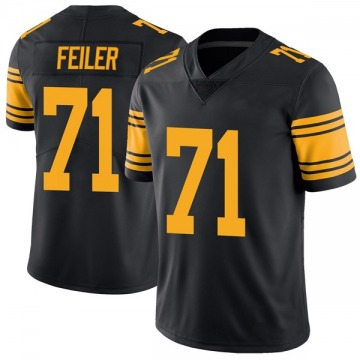 Youth Nike Pittsburgh Steelers Matt Feiler Black Color Rush Jersey - Limited
