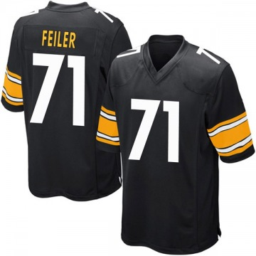 Youth Nike Pittsburgh Steelers Matt Feiler Black Team Color Jersey - Game