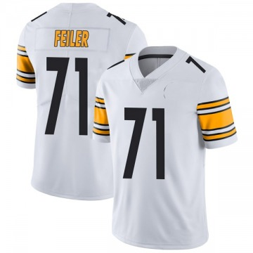 Youth Nike Pittsburgh Steelers Matt Feiler White Vapor Untouchable Jersey - Limited