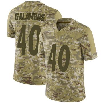 Youth Nike Pittsburgh Steelers Matt Galambos Camo 2018 Salute to Service Jersey - Limited