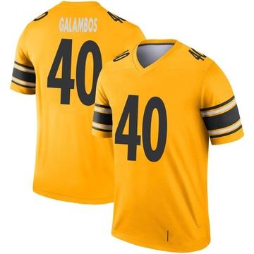 Youth Nike Pittsburgh Steelers Matt Galambos Gold Inverted Jersey - Legend