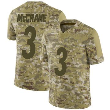 Youth Nike Pittsburgh Steelers Matt McCrane Camo 2018 Salute to Service Jersey - Limited