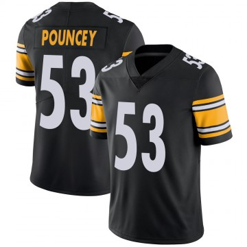 Youth Nike Pittsburgh Steelers Maurkice Pouncey Black 100th Vapor Jersey - Limited