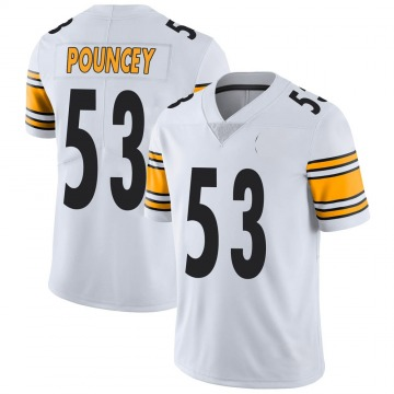 Youth Nike Pittsburgh Steelers Maurkice Pouncey White Vapor Untouchable Jersey - Limited