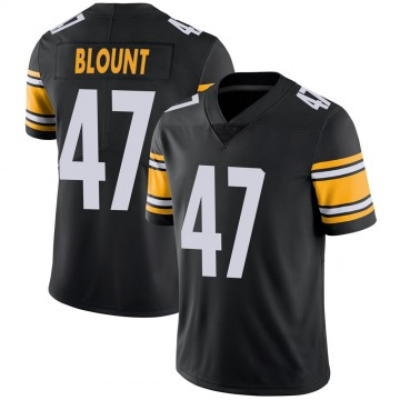 Youth Nike Pittsburgh Steelers Mel Blount Black 100th Vapor Jersey - Limited