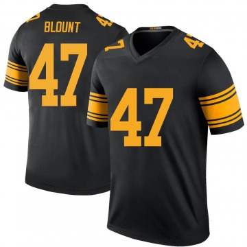 Youth Nike Pittsburgh Steelers Mel Blount Black Color Rush Jersey - Legend