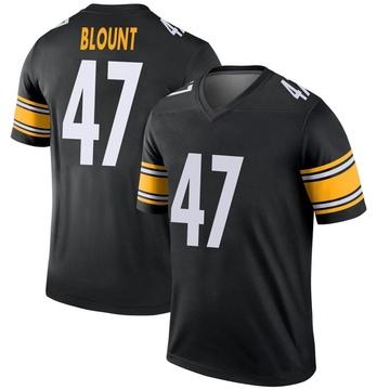 Youth Nike Pittsburgh Steelers Mel Blount Black Jersey - Legend