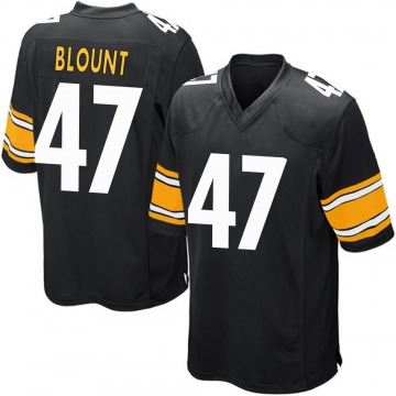 Youth Nike Pittsburgh Steelers Mel Blount Black Team Color Jersey - Game