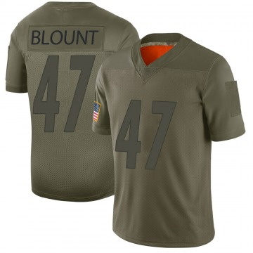 Youth Nike Pittsburgh Steelers Mel Blount Camo 2019 Salute to Service Jersey - Limited