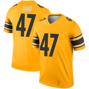 Youth Nike Pittsburgh Steelers Mel Blount Gold Inverted Jersey - Legend