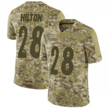 Youth Nike Pittsburgh Steelers Mike Hilton Camo 2018 Salute to Service Jersey - Limited