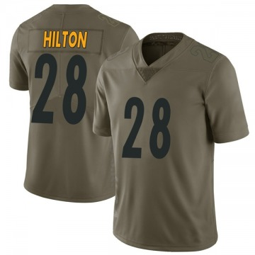 Youth Nike Pittsburgh Steelers Mike Hilton Green 2017 Salute to Service Jersey - Limited