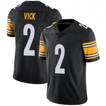 Youth Nike Pittsburgh Steelers Mike Vick Black 100th Vapor Jersey - Limited