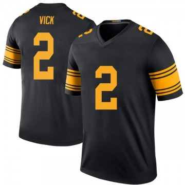 Youth Nike Pittsburgh Steelers Mike Vick Black Color Rush Jersey - Legend
