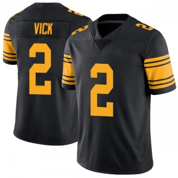 Youth Nike Pittsburgh Steelers Mike Vick Black Color Rush Jersey - Limited