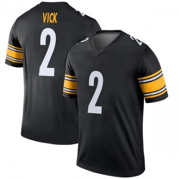Youth Nike Pittsburgh Steelers Mike Vick Black Jersey - Legend