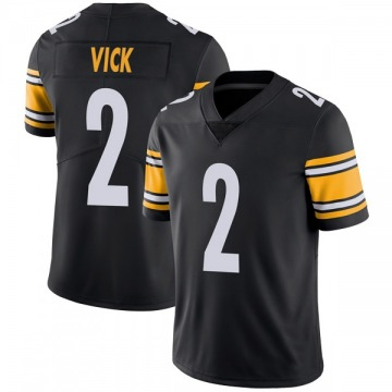 Youth Nike Pittsburgh Steelers Mike Vick Black Team Color Vapor Untouchable Jersey - Limited