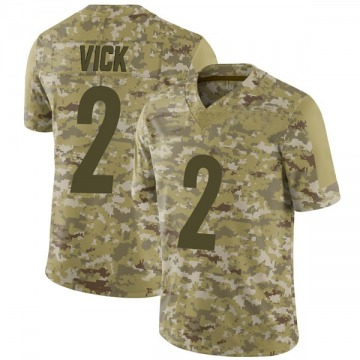 Youth Nike Pittsburgh Steelers Mike Vick Camo 2018 Salute to Service Jersey - Limited