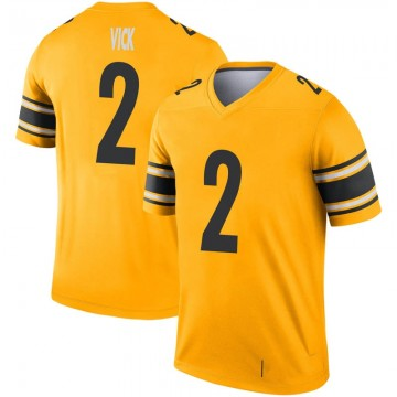 Youth Nike Pittsburgh Steelers Mike Vick Gold Inverted Jersey - Legend