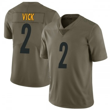 Youth Nike Pittsburgh Steelers Mike Vick Green 2017 Salute to Service Jersey - Limited