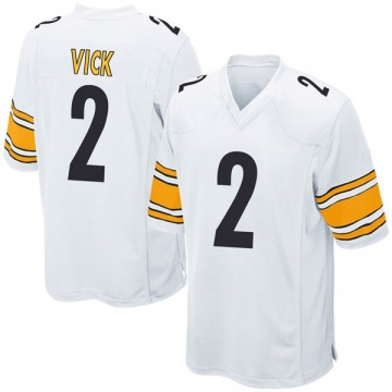 Youth Nike Pittsburgh Steelers Mike Vick White Jersey - Game
