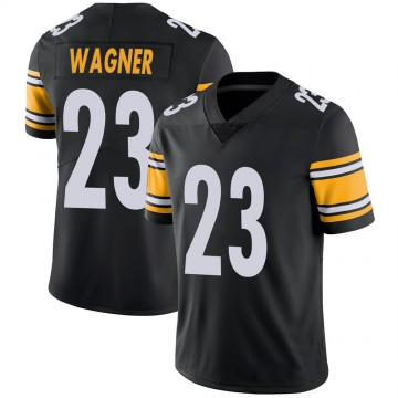 Youth Nike Pittsburgh Steelers Mike Wagner Black 100th Vapor Jersey - Limited