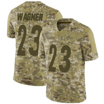 Youth Nike Pittsburgh Steelers Mike Wagner Camo 2018 Salute to Service Jersey - Limited