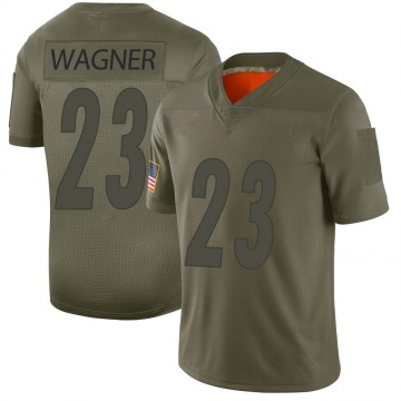 Youth Nike Pittsburgh Steelers Mike Wagner Camo 2019 Salute to Service Jersey - Limited