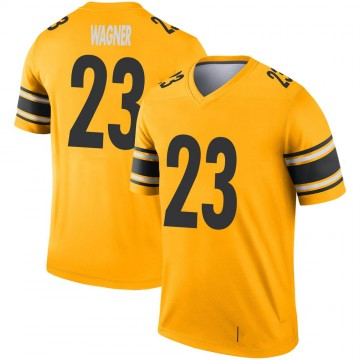 Youth Nike Pittsburgh Steelers Mike Wagner Gold Inverted Jersey - Legend