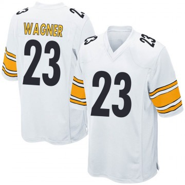 Youth Nike Pittsburgh Steelers Mike Wagner White Jersey - Game