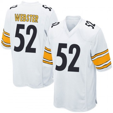 Youth Nike Pittsburgh Steelers Mike Webster White Jersey - Game