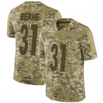 Youth Nike Pittsburgh Steelers Nat Berhe Camo 2018 Salute to Service Jersey - Limited