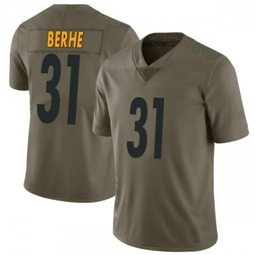 Youth Nike Pittsburgh Steelers Nat Berhe Green 2017 Salute to Service Jersey - Limited