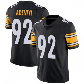 Youth Nike Pittsburgh Steelers Olasunkanmi Adeniyi Black Team Color Vapor Untouchable Jersey - Limited