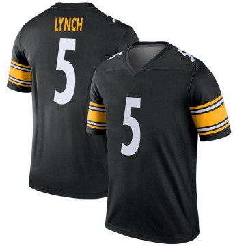 Youth Nike Pittsburgh Steelers Paxton Lynch Black Jersey - Legend