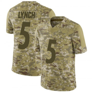 Youth Nike Pittsburgh Steelers Paxton Lynch Camo 2018 Salute to Service Jersey - Limited