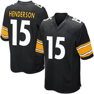 Youth Nike Pittsburgh Steelers Quadree Henderson Black Team Color Jersey - Game
