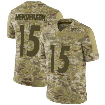Youth Nike Pittsburgh Steelers Quadree Henderson Camo 2018 Salute to Service Jersey - Limited