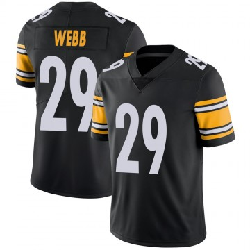 Youth Nike Pittsburgh Steelers Ralph Webb Black 100th Vapor Jersey - Limited