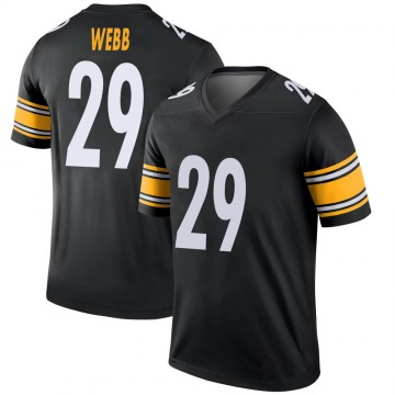 Youth Nike Pittsburgh Steelers Ralph Webb Black Jersey - Legend