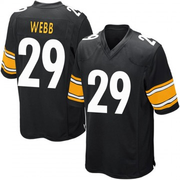 Youth Nike Pittsburgh Steelers Ralph Webb Black Team Color Jersey - Game