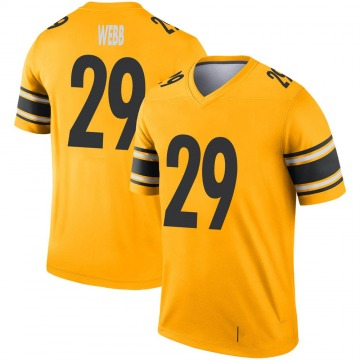 Youth Nike Pittsburgh Steelers Ralph Webb Gold Inverted Jersey - Legend