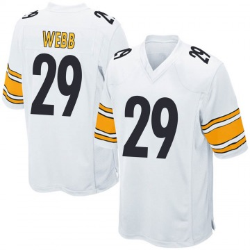 Youth Nike Pittsburgh Steelers Ralph Webb White Jersey - Game