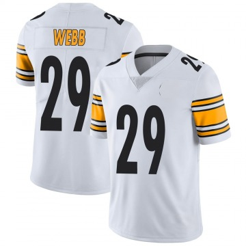 Youth Nike Pittsburgh Steelers Ralph Webb White Vapor Untouchable Jersey - Limited