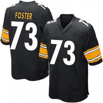 Youth Nike Pittsburgh Steelers Ramon Foster Black Team Color Jersey - Game
